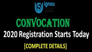 ignou convocation 2020 - IGNOU 33st Convocation List 2020